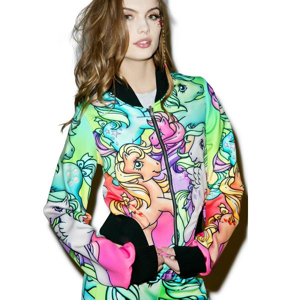 Alice Vandy Ponyland 2.0 Reversible Bomber Jacket