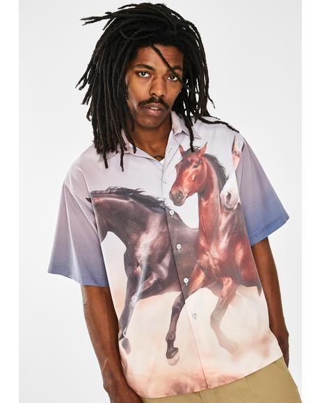 Horse Button Up Shirt