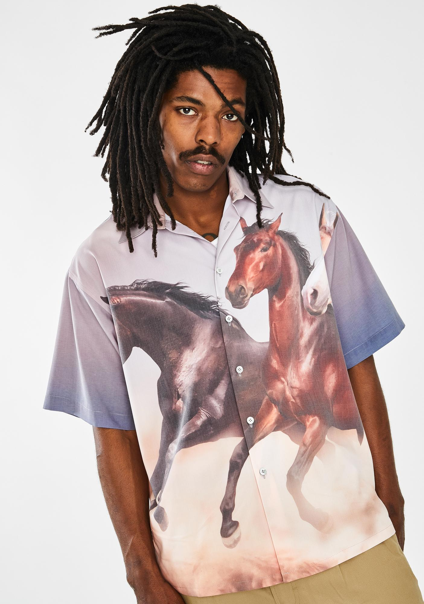 Used Future Horse Button Up Shirt