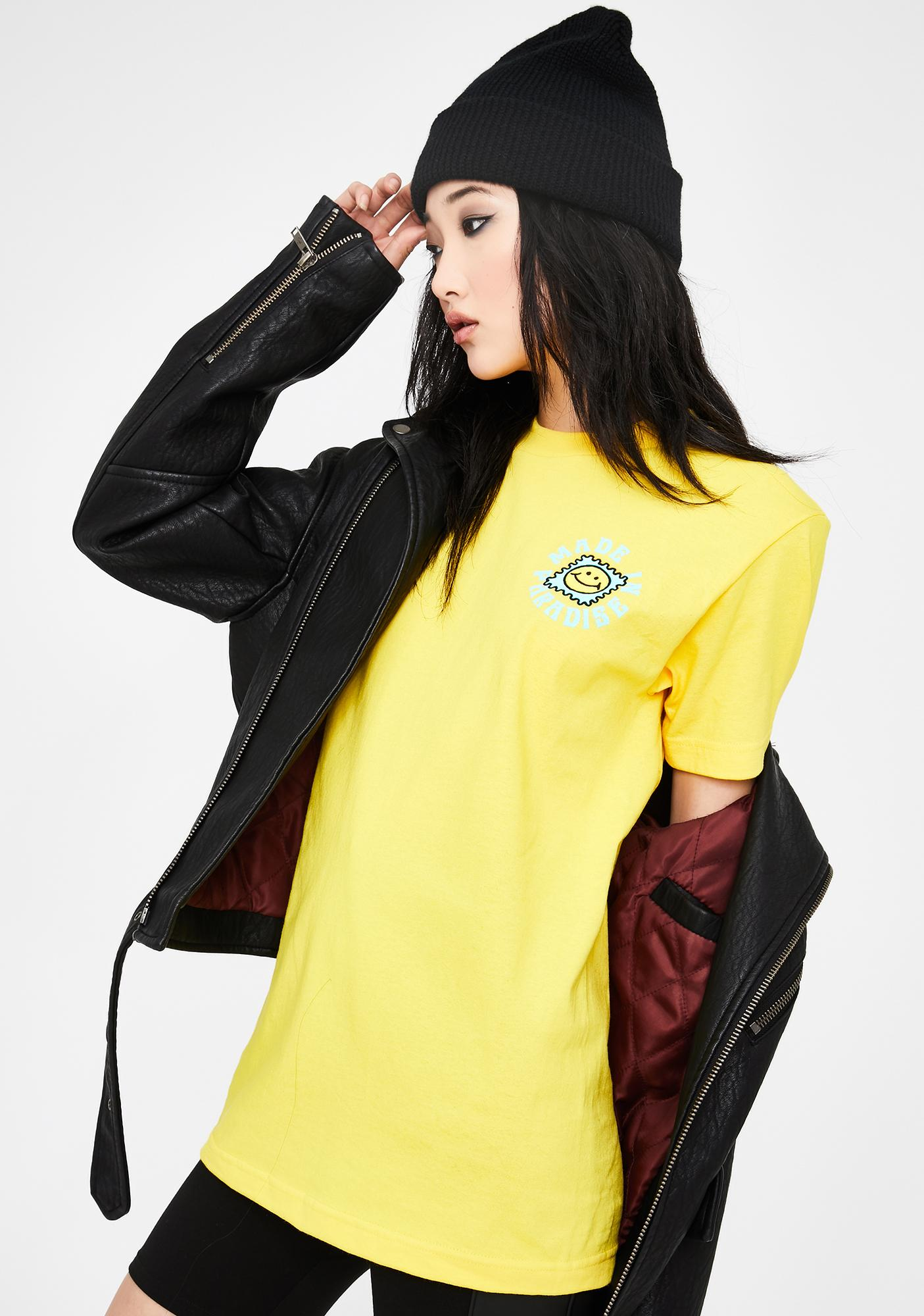 Made in Paradise Yellow Taste The Sunshine Graphic Tee