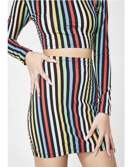 Rainbow Stripe Kimmy Skirt