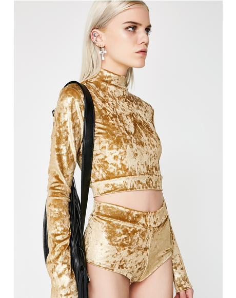 Go For Gold Crop Top