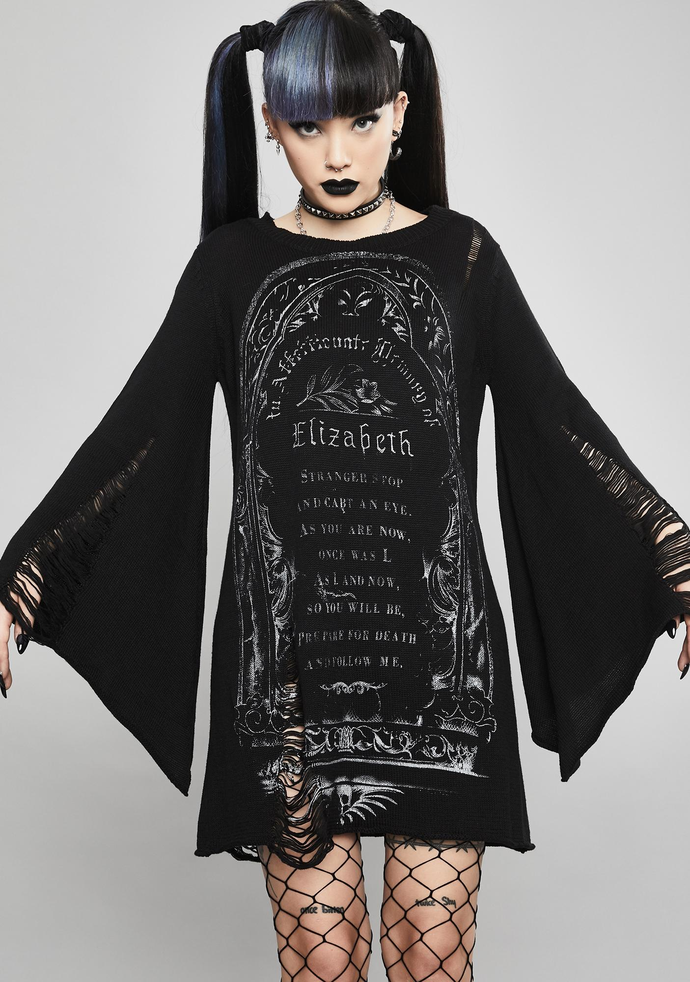 Widow Ritual Magick Sweater Dress
