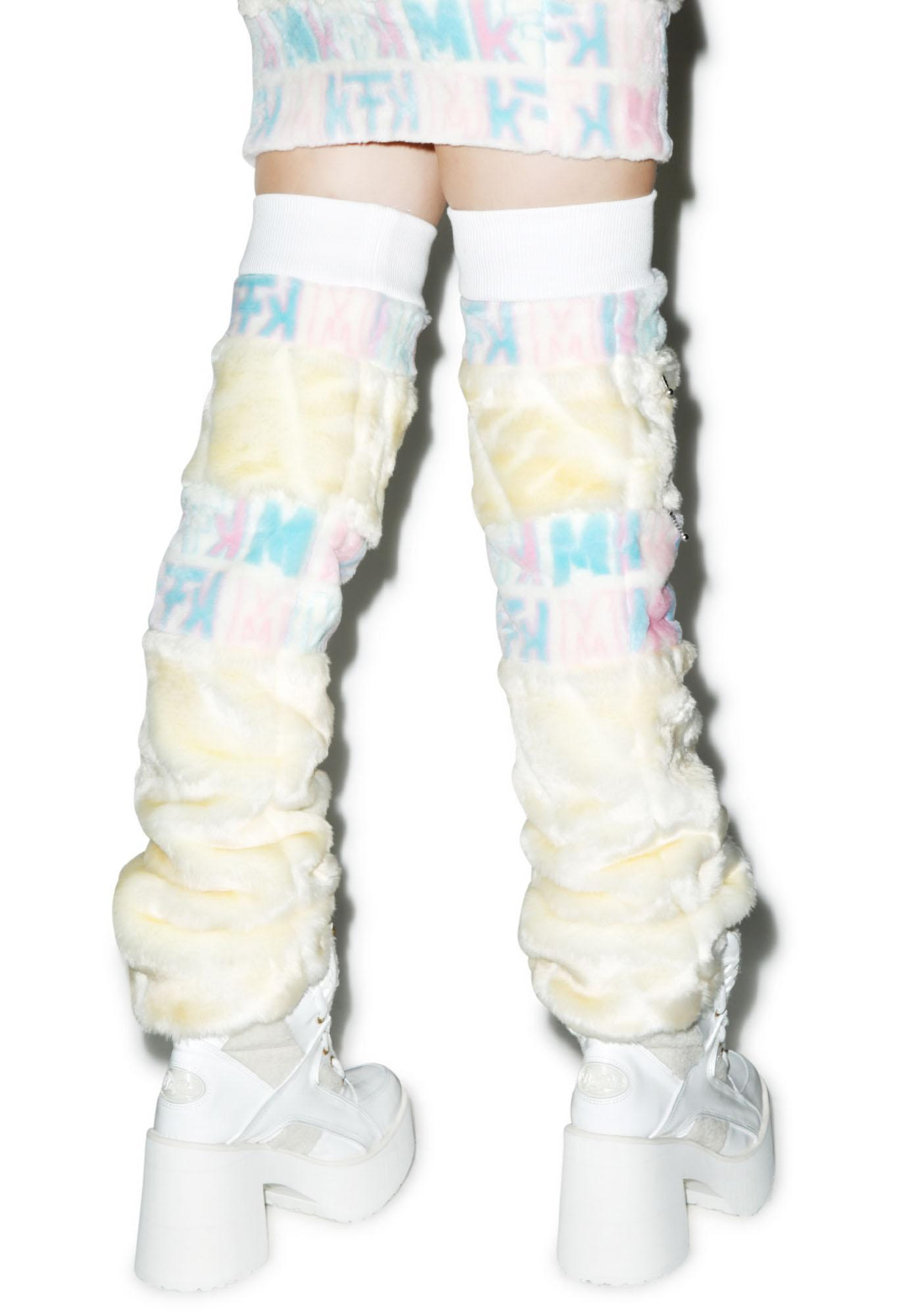 Maria ke Fisherman Snow Bunny Leg Warmers