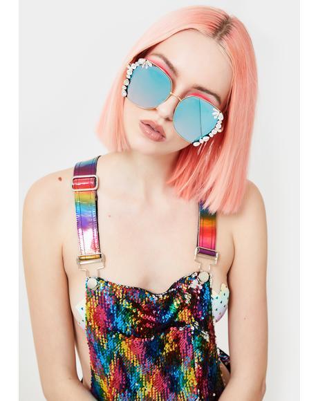 Wayward Traveler Rhinestone Sunglasses