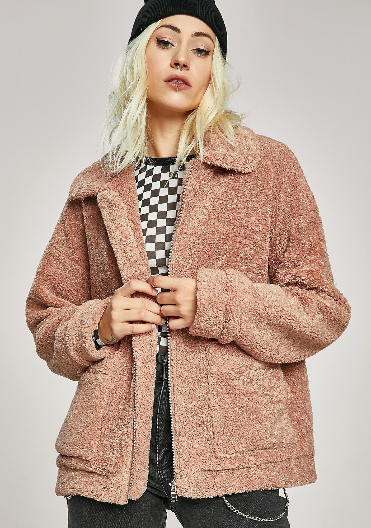 Plush Teddy Fuzzy Jacket