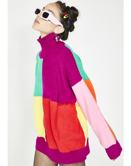 Easy As Do Re Mi Colorblock Sweater