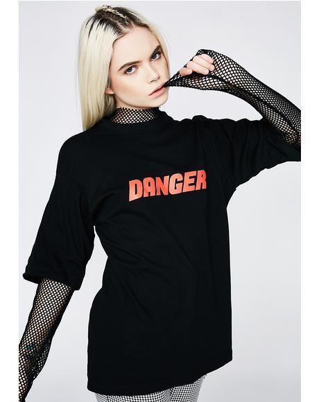 Danger Mesh Sleeve Tee