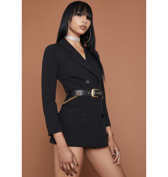 HOROSCOPEZ Your Attention Please Blazer Dress