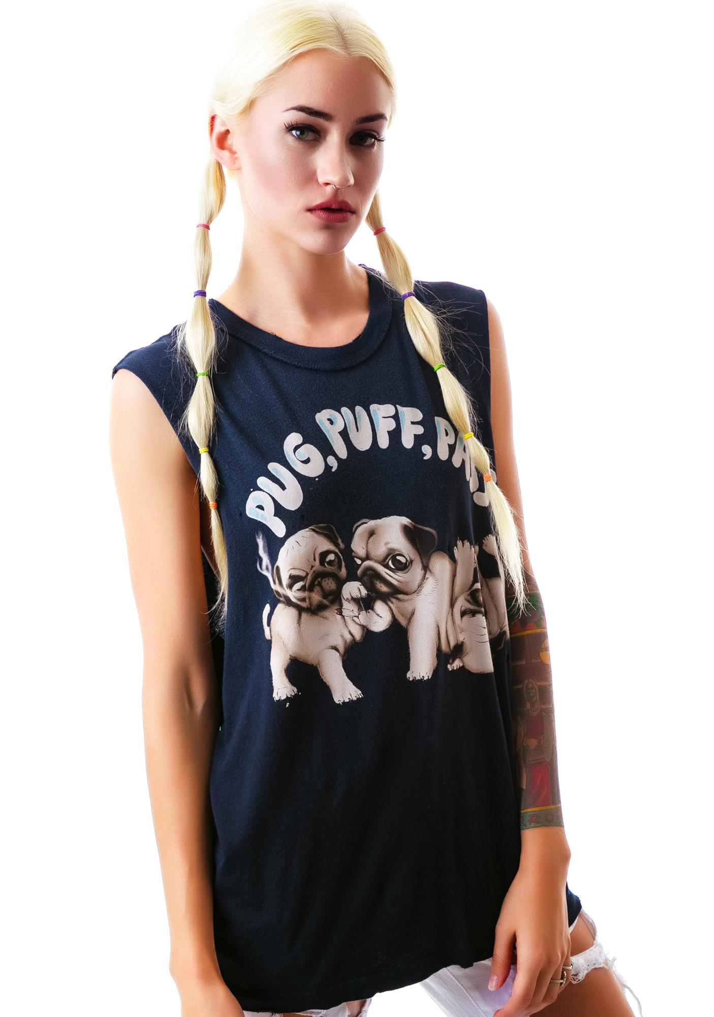 UNIF Pug, Puff, Pass Sleeveless Tee