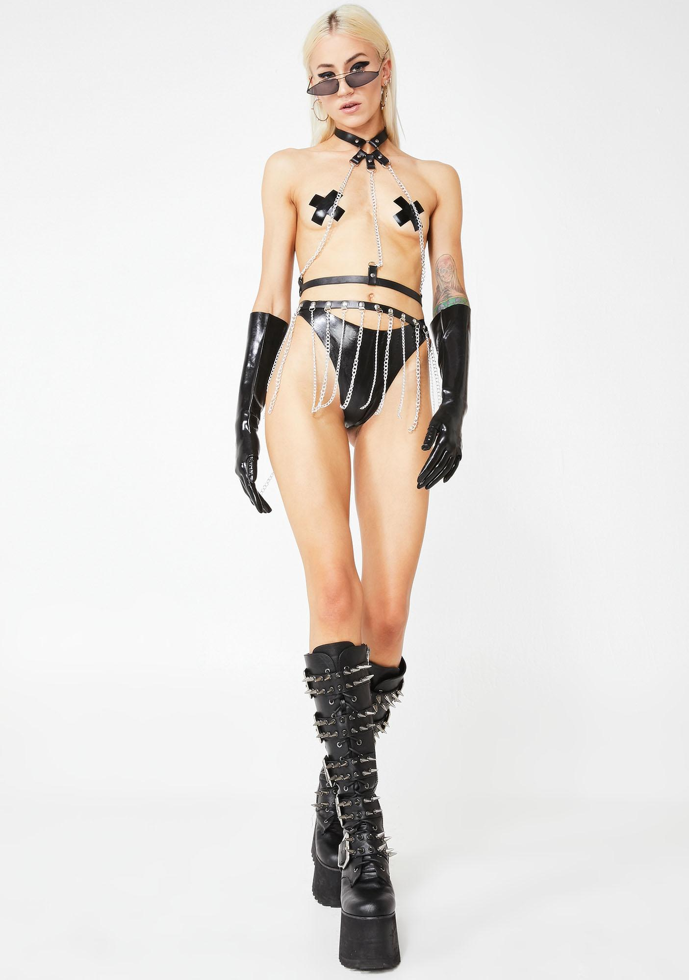 Mistress Mystic Latex Panties N' Pasties Set