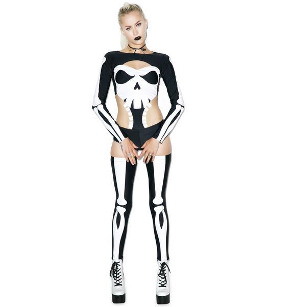 J Valentine Punisherz Skeleton Costume