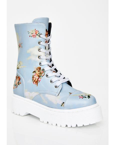Celestial Sass Combat Boots