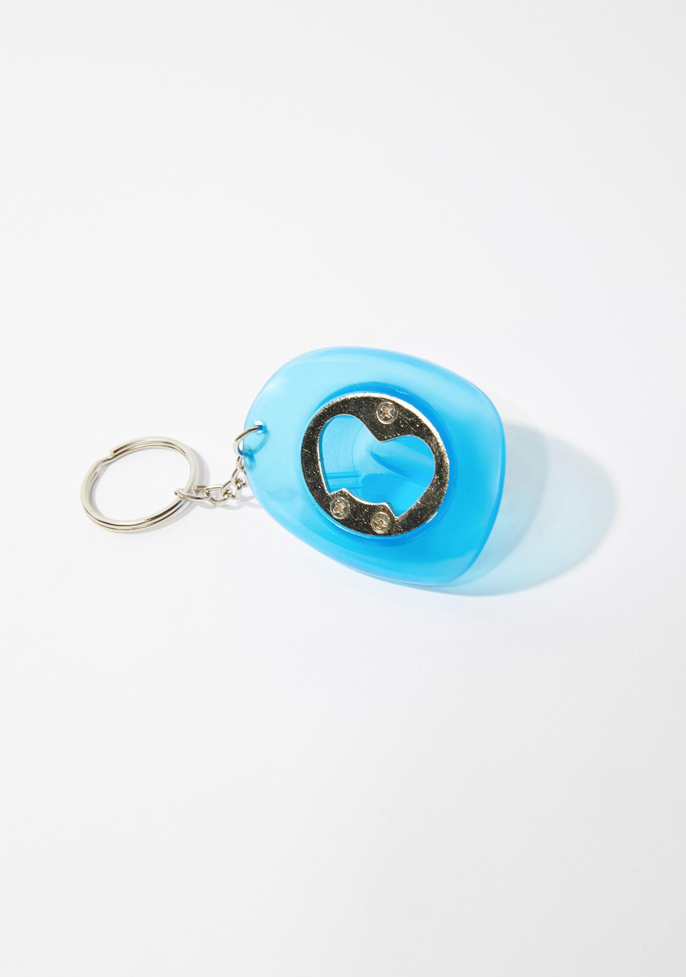 Neon Cowboys Blue Glow In The Dark Cowboy Hat Bottle Opener Keychain