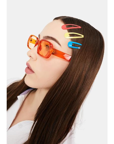 Edge Of Seventeen Rectangle Sunglasses