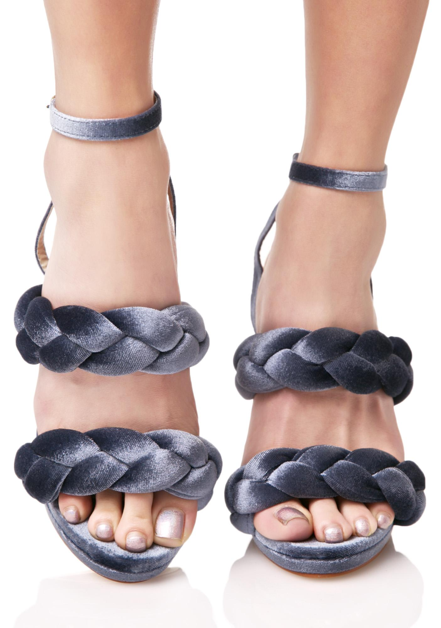 Slate Serpentine Braided Heels
