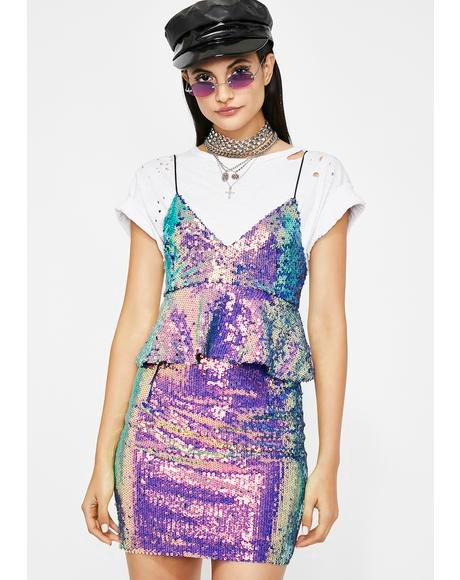 Cosmic Adventure Sequin Dress