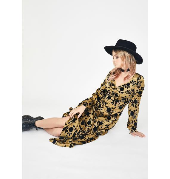 Glamorous Olive Floral Print Midi Dress
