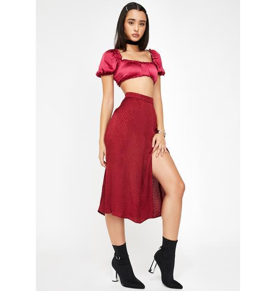 Motel Raspberry Cheetah Saika Skirt