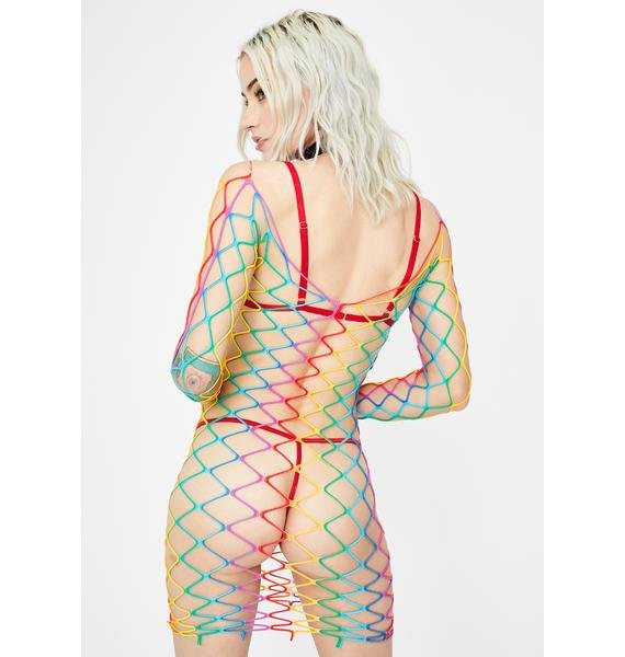 Freaky Fusion Fishnet Dress