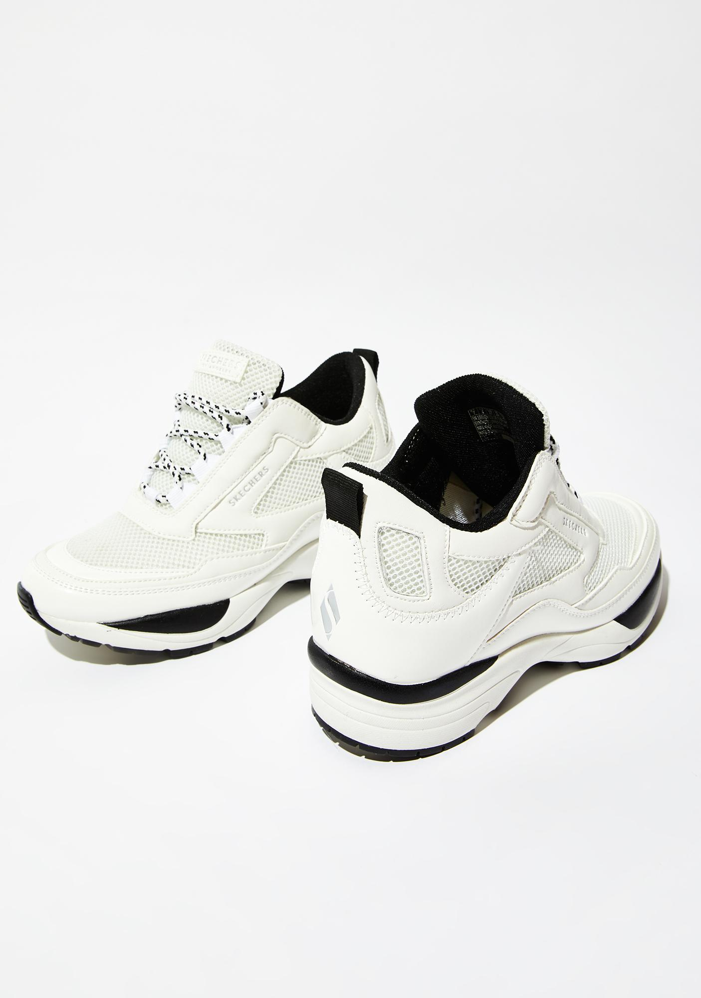 Skechers White Uno Hi Sneakers