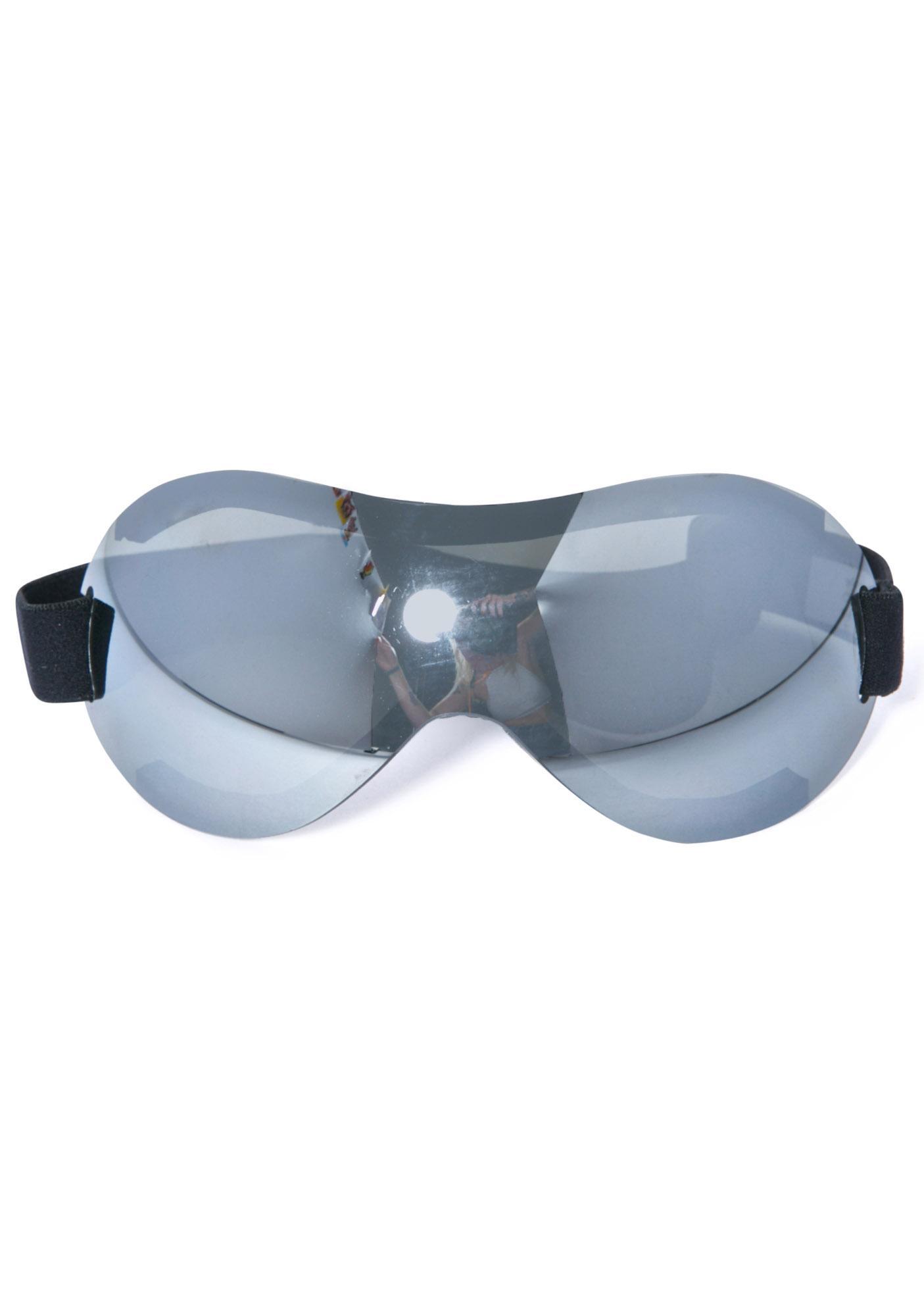 Chrome Motoko Bot Goggles