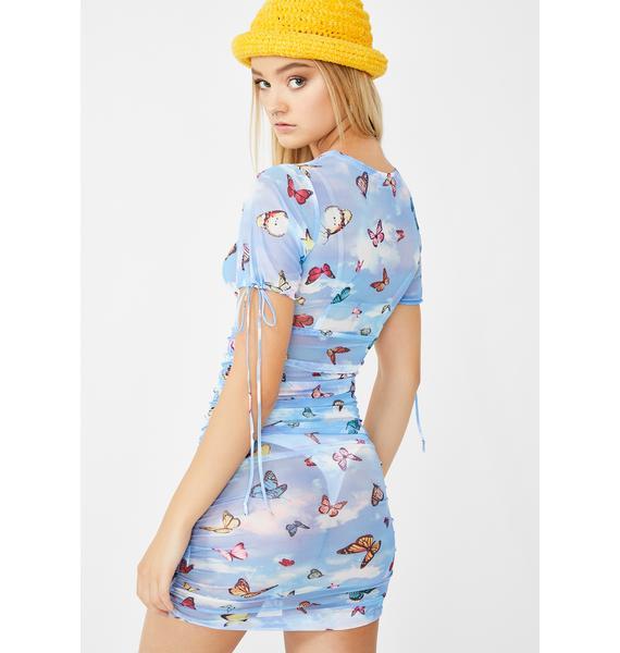 Motel Butterfly Guenetta Dress