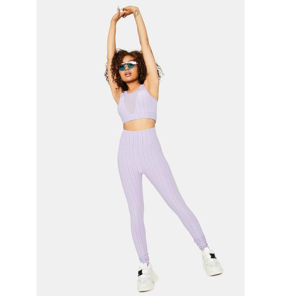 When I'm With You Active Textured Sports Bra