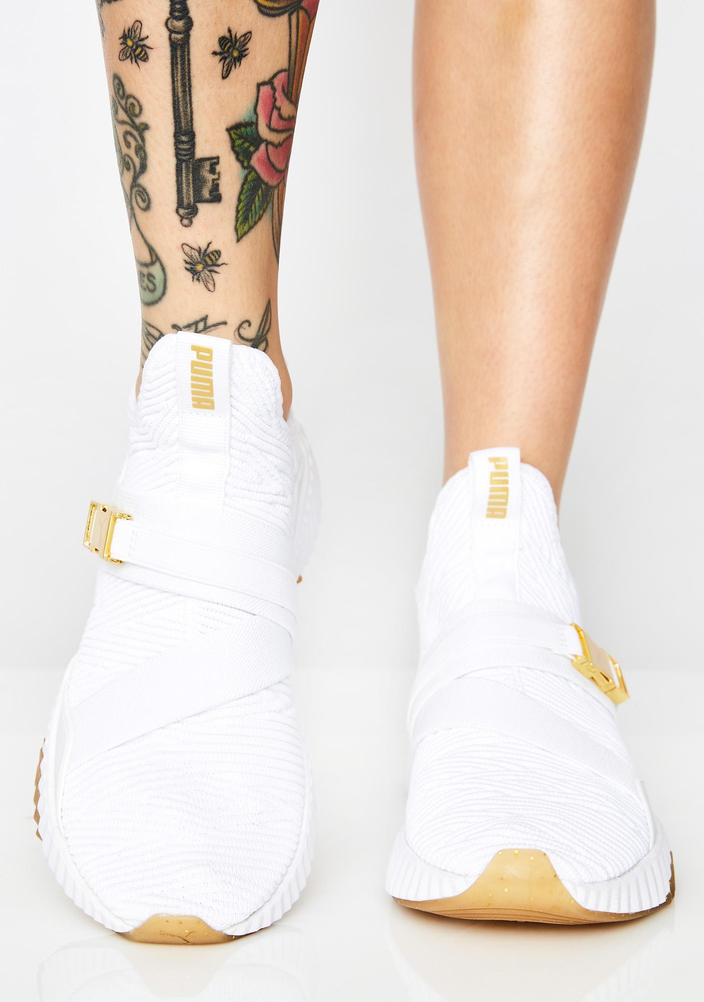 9e816734a8ba6 PUMA Defy Varsity Mid Sneakers | Dolls Kill