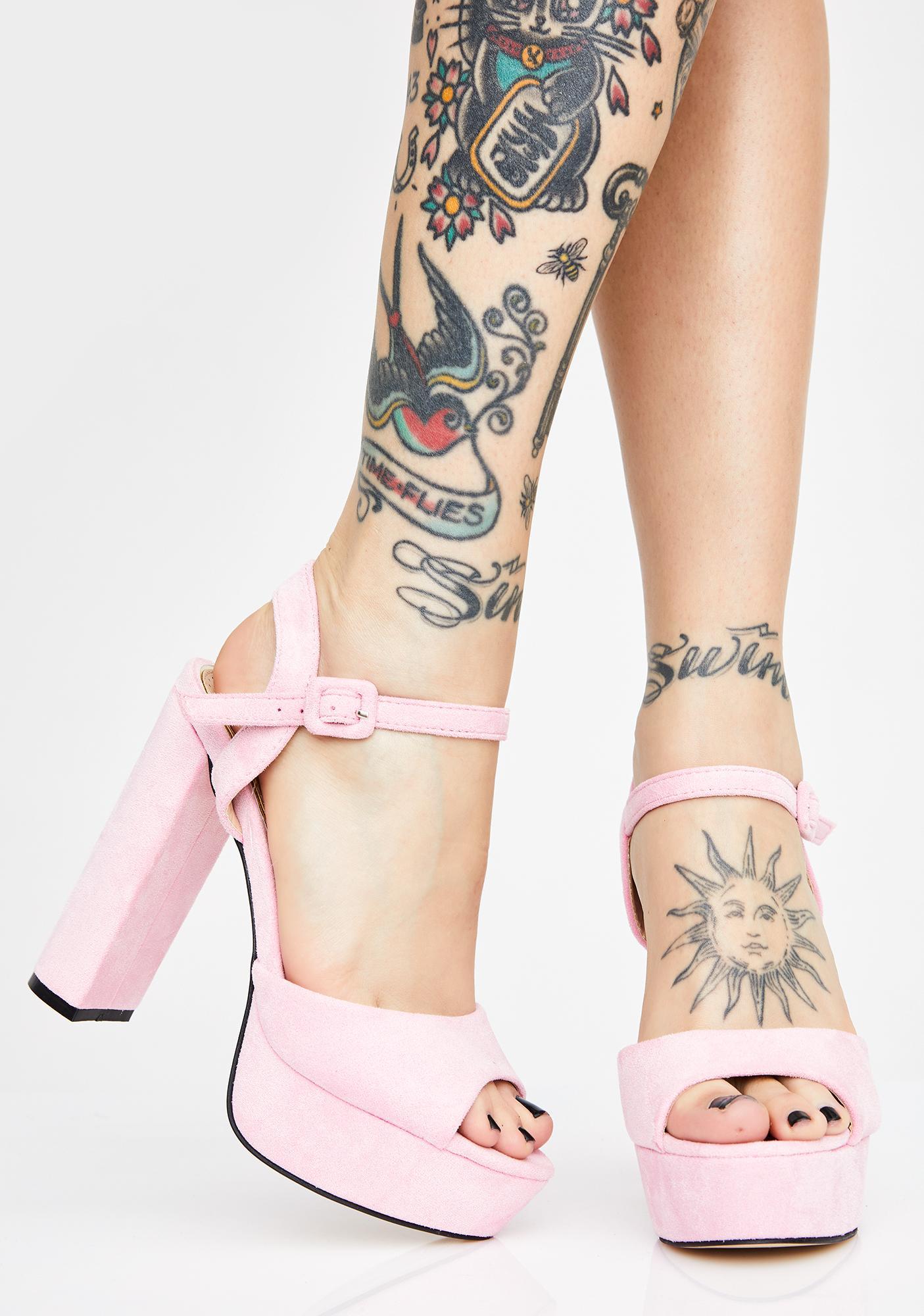 AZALEA WANG Pixie La La La Fleur Platform Heels
