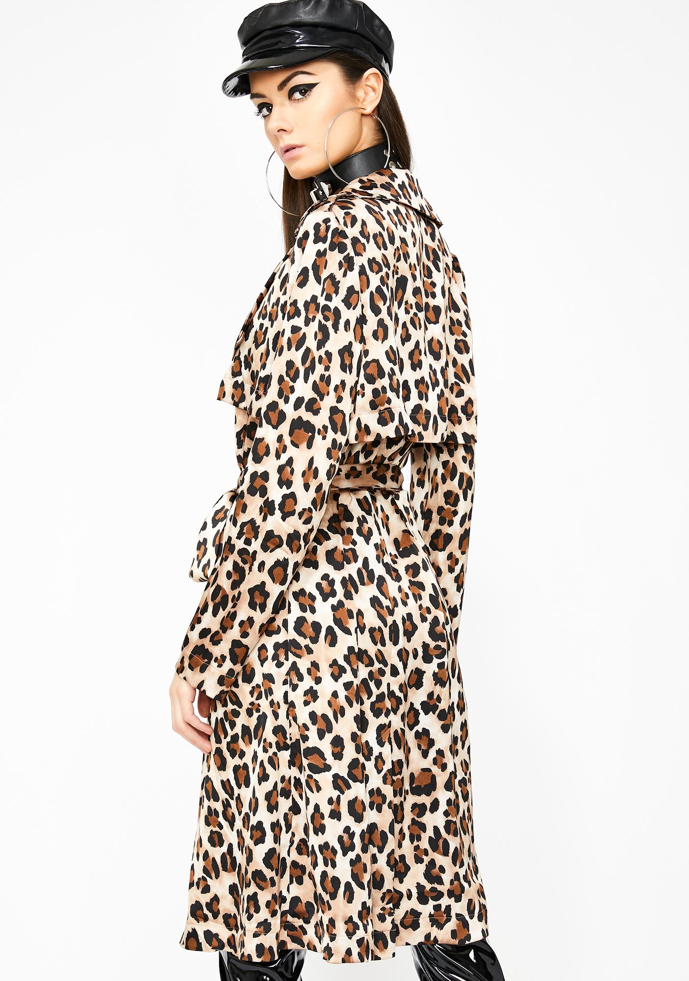 Hott Huntress Leopard Trench Coat