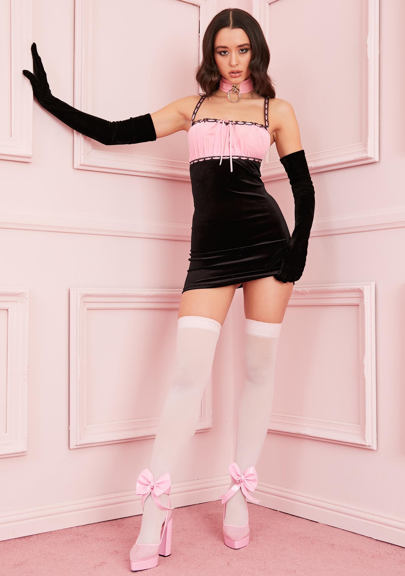 Sugar Thrillz PS I Love You Velvet Dress