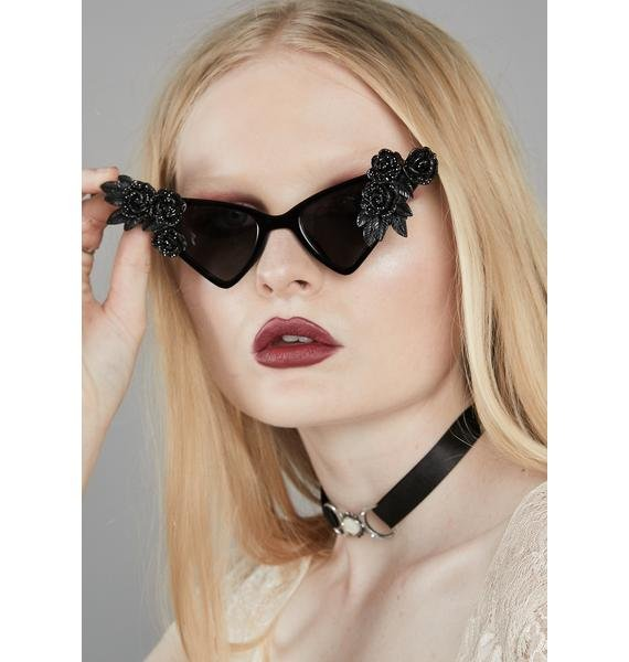 Rad and Refined Wicked Roses Sunglasses