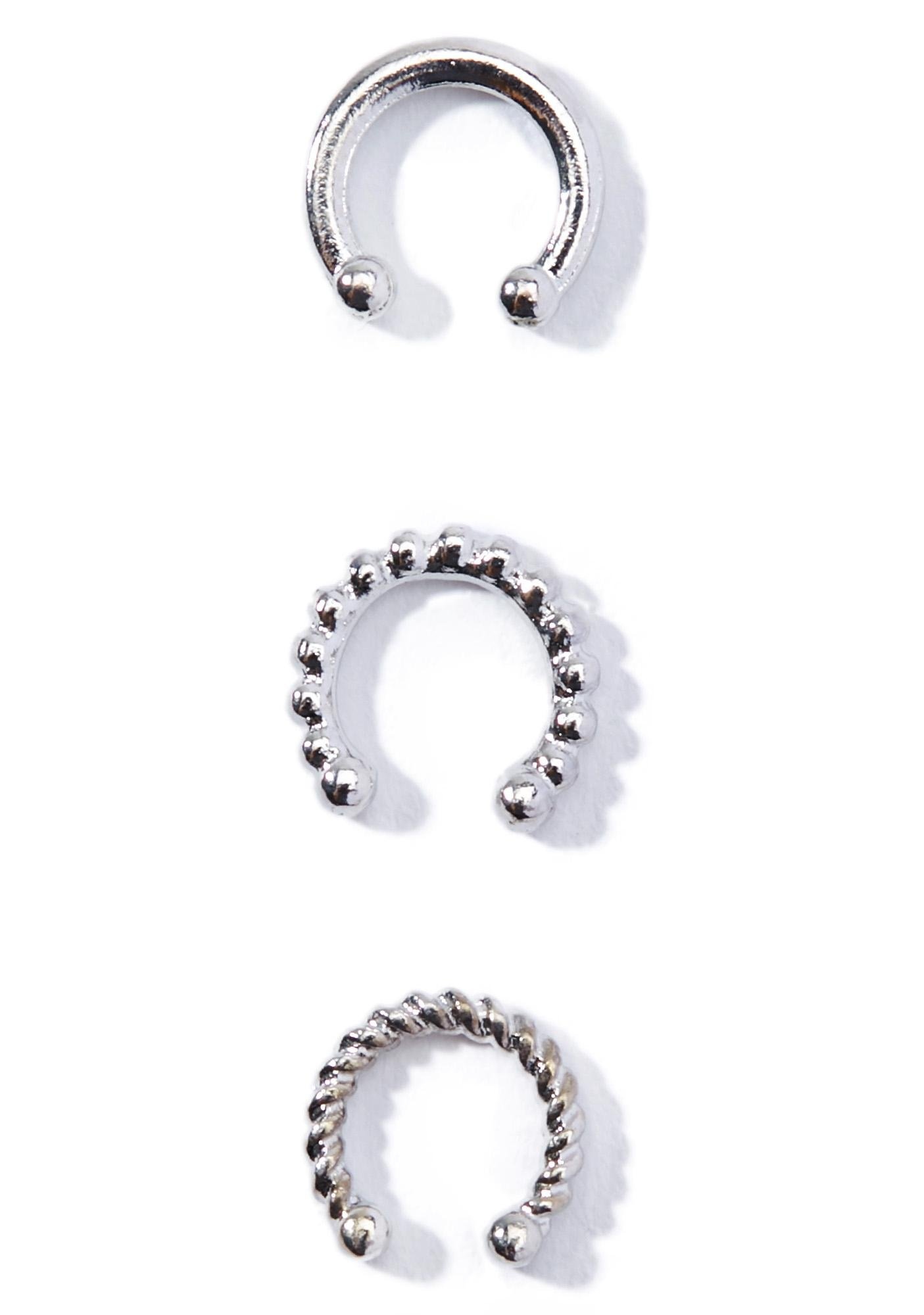 Lustre Lip Ring Set