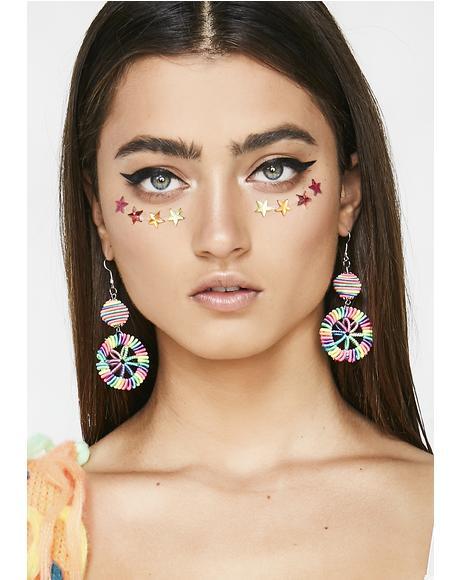 Electric Rainbow Earrings
