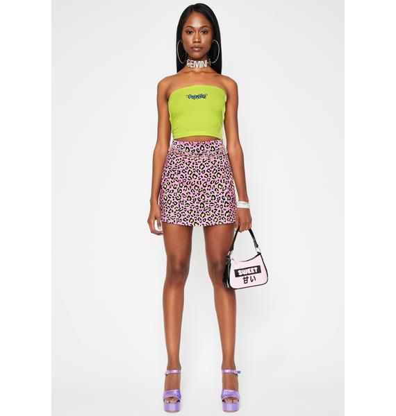 HOROSCOPEZ Catty Impulse Leopard Skirt