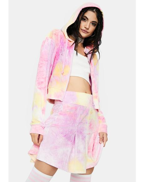 Sweeter Than Candy Tie Dye Skirt Set