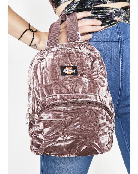 Purp Crushed Velvet Mini Backpack