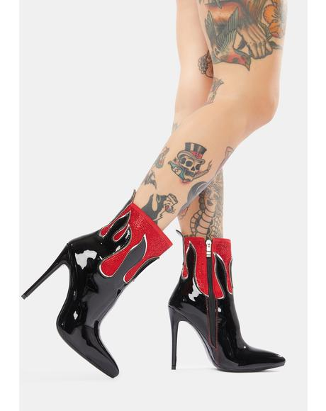 Follow My Footsteps Stiletto Booties