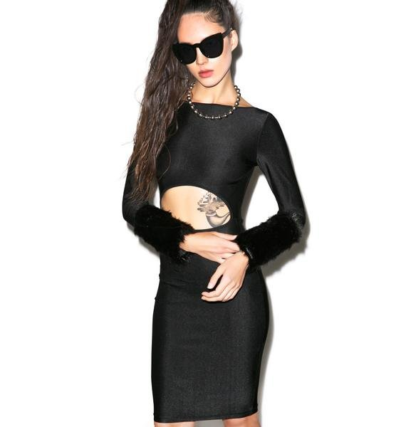 All Fur No Knickers Bodycon Dress