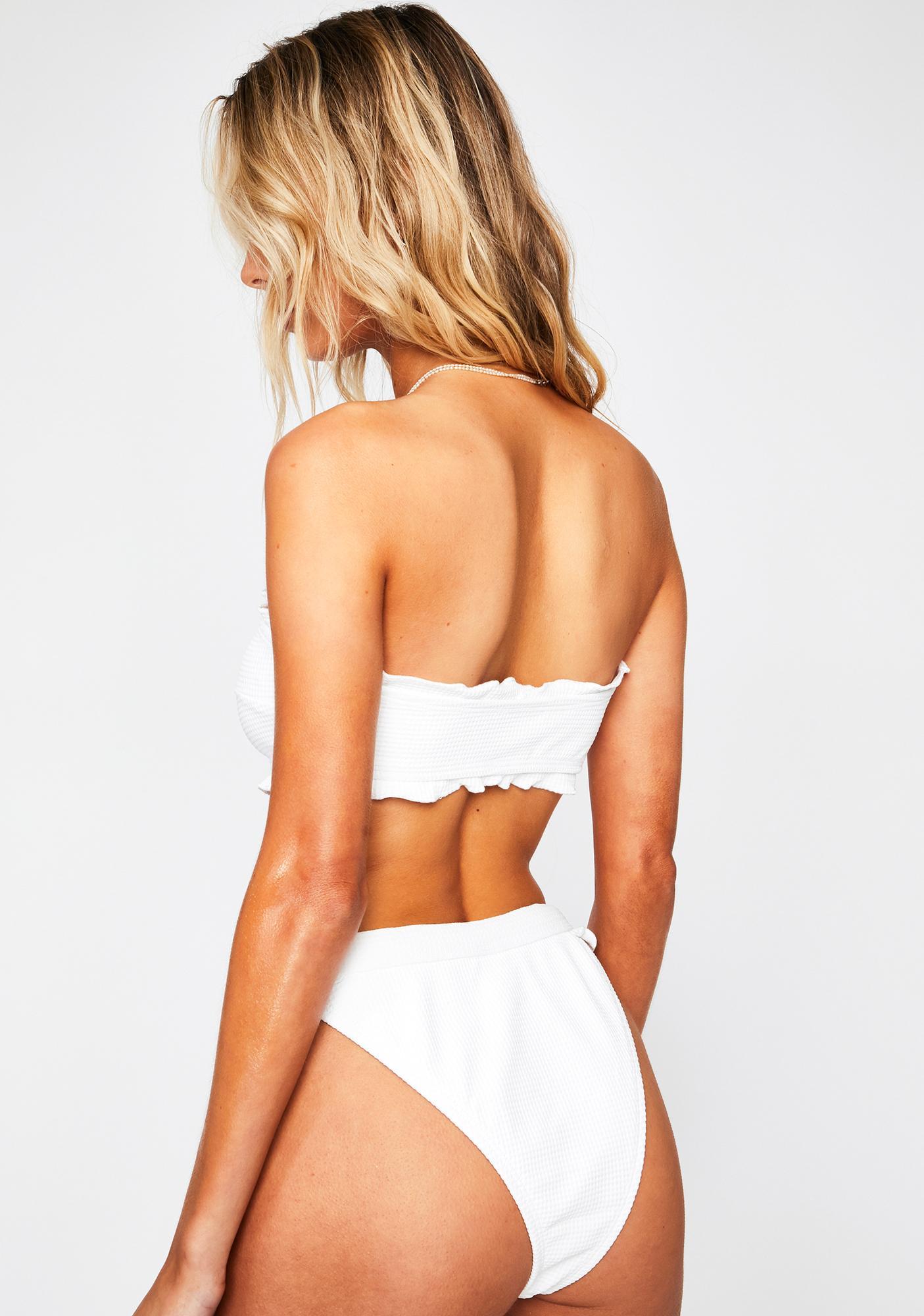 RIS-K White Horizon Bikini Bottoms
