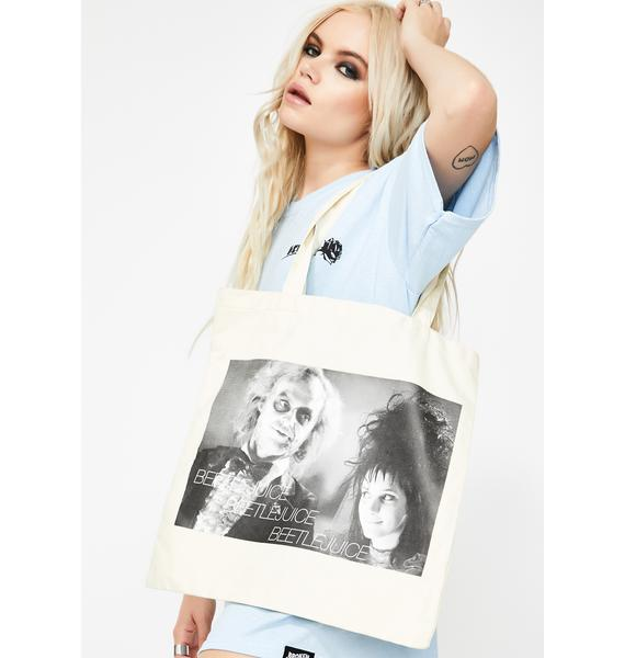 Say It Three Times Canvas Tote