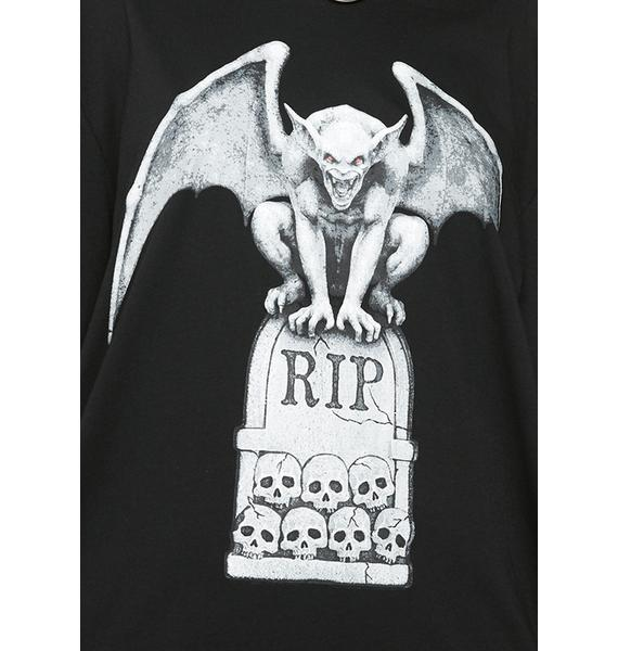 Dolls Kill Rest In Pieces Graphic Tee