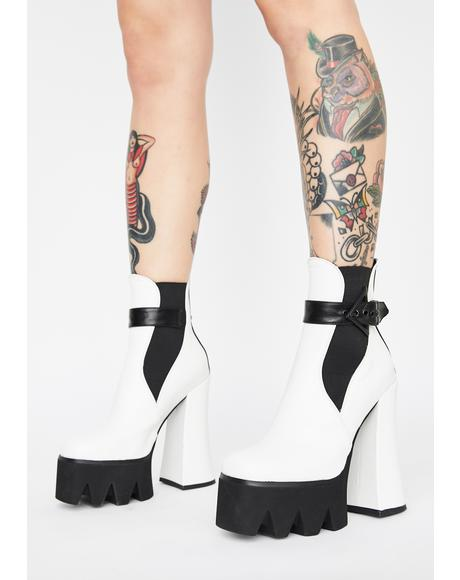 White Perceptions Platform Booties