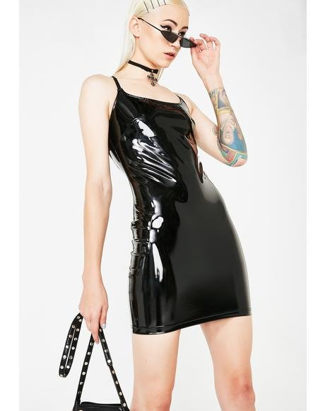 Princess Of Darkness Vinyl Dress