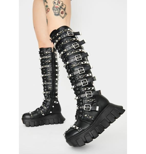 Lamoda Extreme Gladiator Knee High Boots