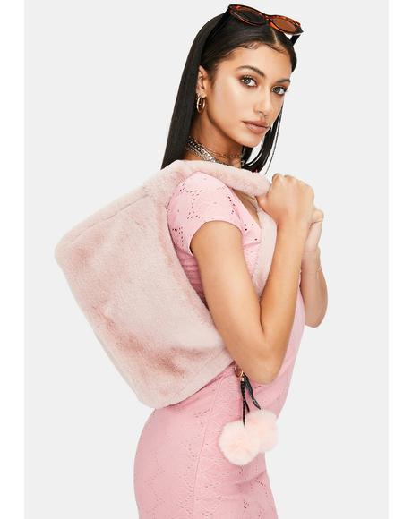 Babe Totally Obsessed Faux Fur Shoulder Bag