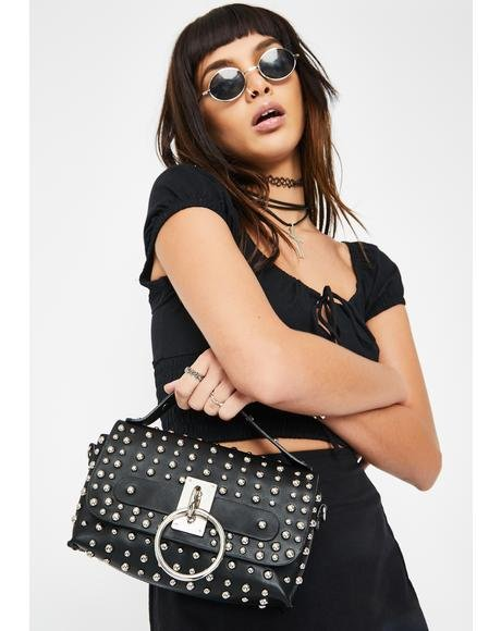 Extra Warning Studded Purse