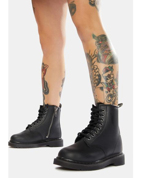 Battle Cry Lace-Up Combat Boots