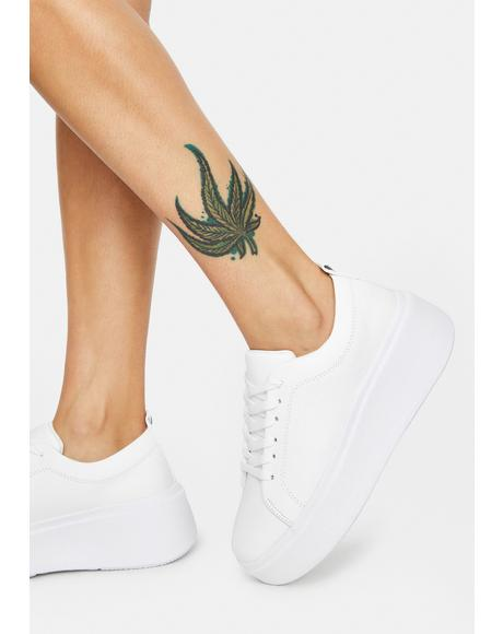 Angel No One Deserves You Platform Sneakers